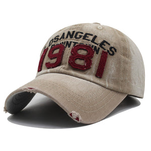 Vintage Letter Pattern Embroidered  Truckers Cap