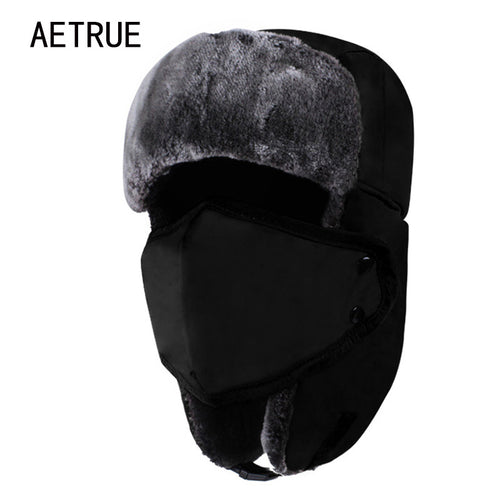 Winter Warm Thick Fur Flap Bomber Hat
