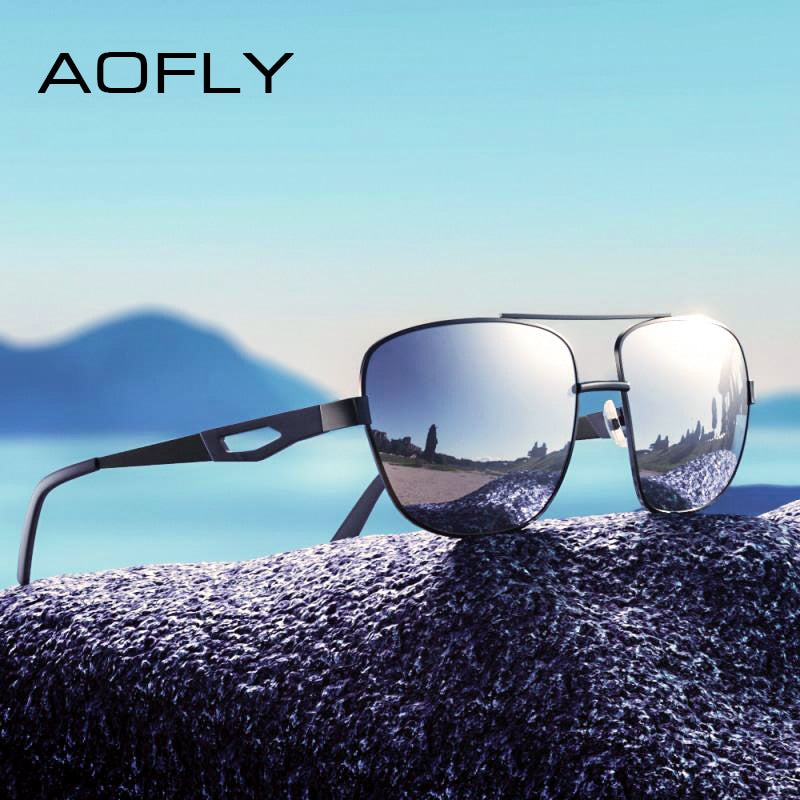 25ae145d633 AOFLY Square Metal Frame Polarized Driving Glasses Model AF8185 ...