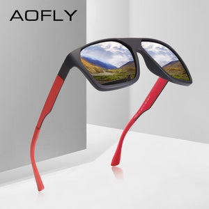 7decca210 AOFLY Classic Polarized Square Frame Driving Shades Model AF8113