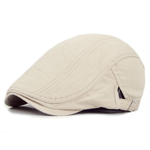 Mens Solid Color Duckbill Herringbone Cap*