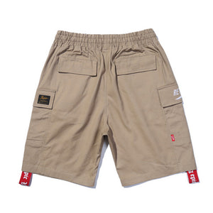 Mens Knee-Length Pleated Kanye West Cargo Shorts