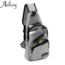 Load image into Gallery viewer, Anti-Theft USB Charging Crossbody Sling Shoulder Backpack