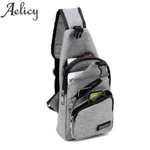 Anti-Theft USB Charging Crossbody Sling Shoulder Backpack