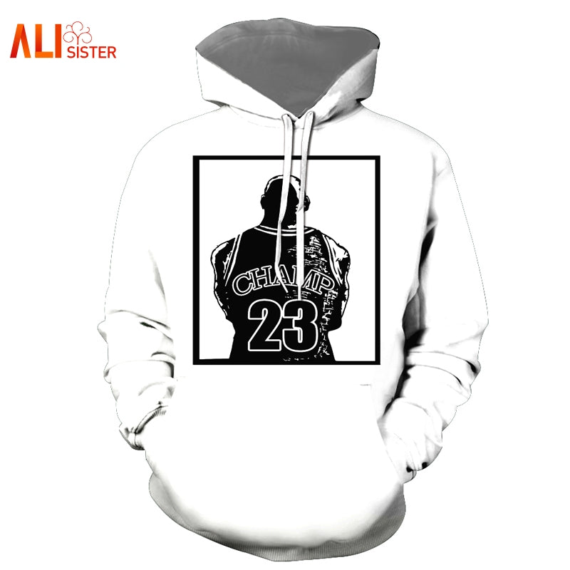 Casual Jordan Print Hooded Pullover