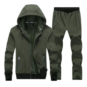 Men's Sporting Suit Hoodies- Two Piece Set Tracksuit For Men