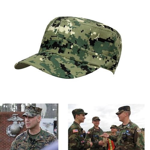 Adjustable All Season Digital Print Camouflage Military Hat