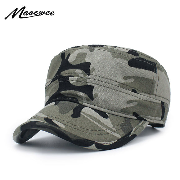 MAOCWEE Adjustable Camouflage Military Cadet Hat