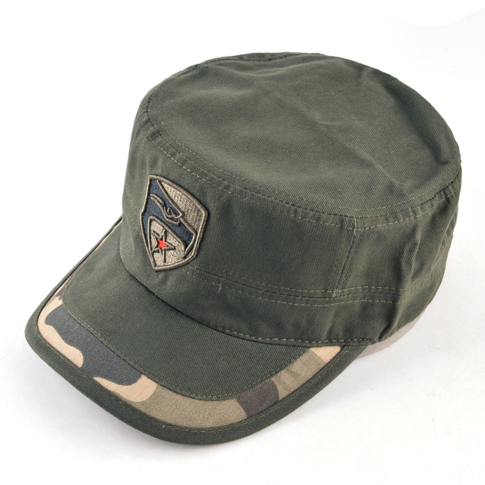 9ee2a63d3ed501 ... Load image into Gallery viewer, Vintage Flat Top Military Style Cap ...