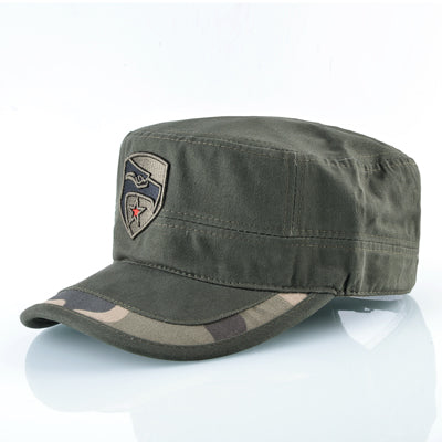 Vintage Flat Top Military Style Cap