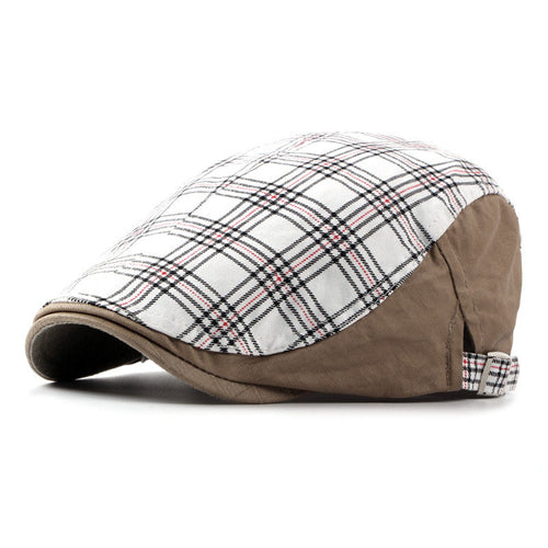 Adjustable Plaid Cotton Duckbill Hat*