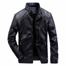 Load image into Gallery viewer, Men's Leather Windproof Motorcycle Jacket*