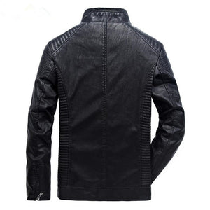 Men's Leather Windproof Motorcycle Jacket*