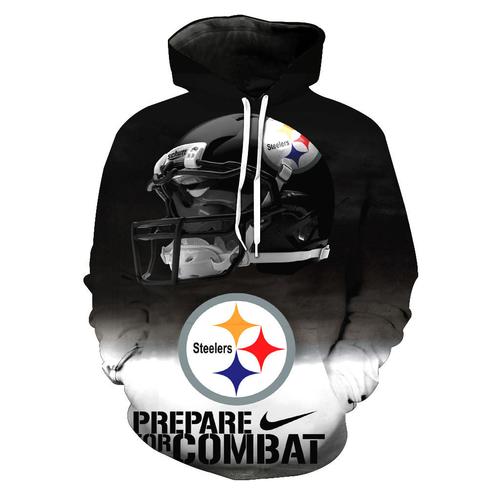 348160a6 ... Load image into Gallery viewer, 3D Hooded Pittsburgh Steelers Print  Hoodie* (S- ...