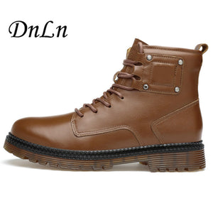 Vintage Style Fashion High-Cut Lace-Up Boots