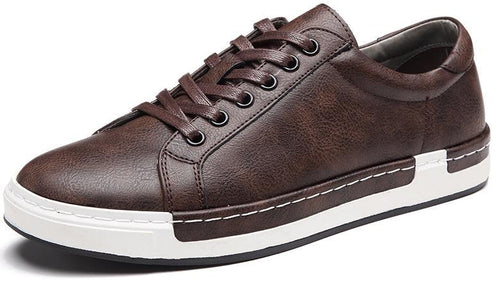 Leather Flats Lace-Up Oxford Shoes For Men