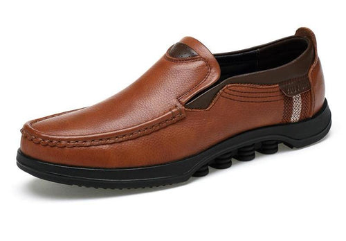 Genuine leather British Style Flat Loafers