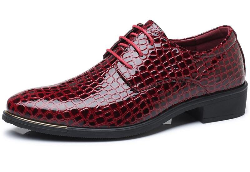 Italian Leather Crocodile Pattern Formal Dress Shoes