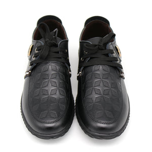 Soft  Italian Leather Lace-Up Flats