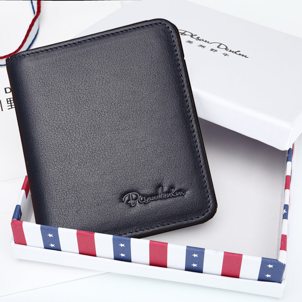 Leather Men's Wallets Thin Wallet Card Holder