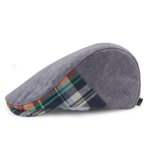 BUTTERMERE Vintage Plaid Patchwork British Style Duckbill Hat*