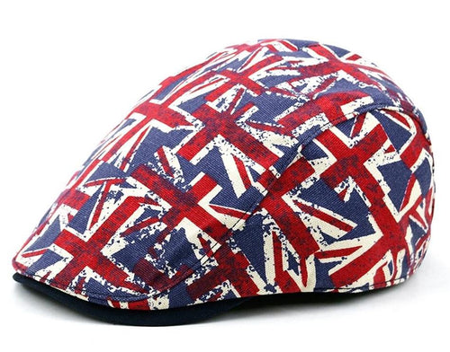 BUTTERMERE British Flag Print Ivy Duckbill Hat*