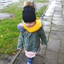 Load image into Gallery viewer, Faux Fur Baby Cap- Pompom Bobble Hat For Kids -Winter Unisex Hats