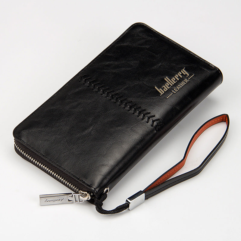 Business Men Wallet-PU Leather Long Portable Casual Clutch