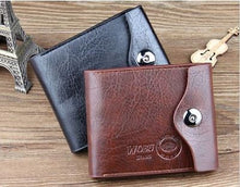 Load image into Gallery viewer, Bi-fold Wallet -Men's Leather Brown Credit ID Card Holder