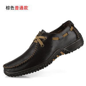 Mens Genuine Leather Luxury Brogue Loafers