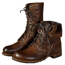 Load image into Gallery viewer, Vintage Quality Leather Waterproof Combat/Motorcycle Boots