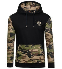 Load image into Gallery viewer, Men's Splicing Camouflage Patchwork Hoodie
