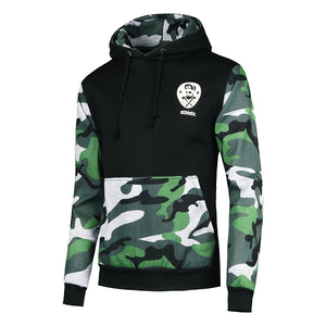 Men's Splicing Camouflage Patchwork Hoodie