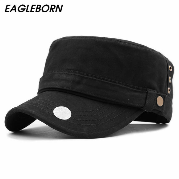 EAGLEBORN Vintage All Season Solid Color Military Hat