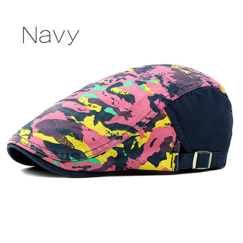 Colorful Cotton Paisley Pattern Duckbill Newsboy Hat