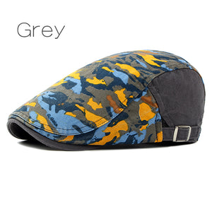 Colorful Cotton Paisley Pattern Duckbill Newsboy Hat*