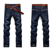 Load image into Gallery viewer, New Casual Straight Leg Denim Jeans(No Belt)