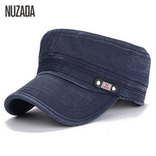 Load image into Gallery viewer, NAZUDA Vintage Cotton Solid Print Military Hat