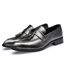 Load image into Gallery viewer, Mens British Style LeatherSlip-On Oxfords w/Tassels