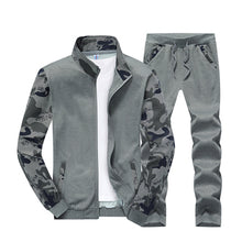 Load image into Gallery viewer, MENS CASUAL PATCHWORK CAMO PRINT RUNNING SUIT