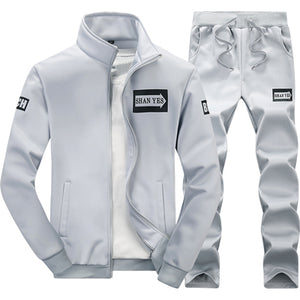431cf5950 Mens 2-Piece Hooded Zipper Running Suits