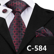 Load image into Gallery viewer, Mens Geometric Print Business/Party Neck Tie Set*