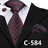 Mens Geometric Print Business/Party Neck Tie Set*