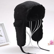 Load image into Gallery viewer, Men's Thick Fur Ear Velvet Snow Bomber Cap