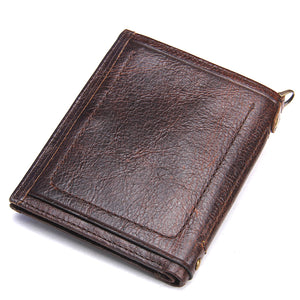 Leather Wallet W/Card Holder & Coin Pocket