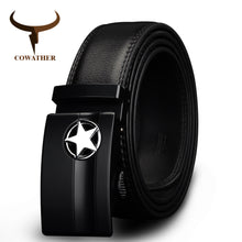 Load image into Gallery viewer, Mens Genuine Leather Cowskin Belt Automatic Buckle