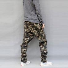 Load image into Gallery viewer, New Drop Crotch Solid Pattern Camouflage Pants