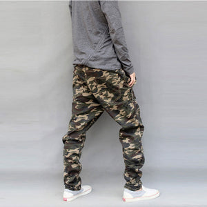 New Drop Crotch Solid Pattern Camouflage Pants
