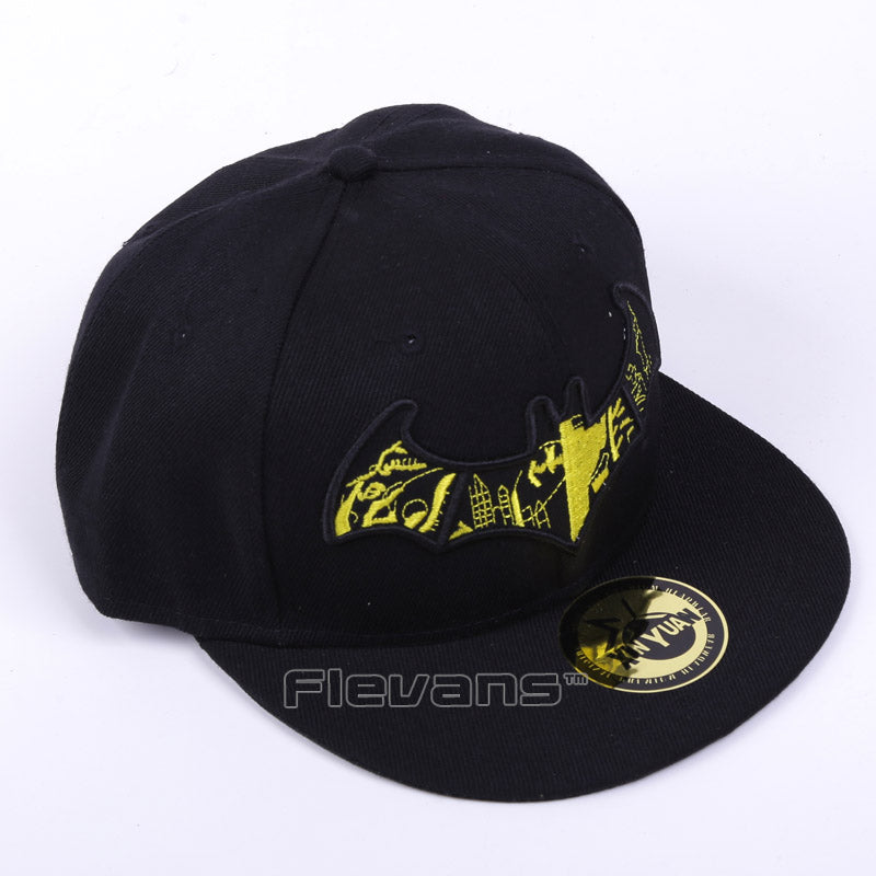 4e166c01 ... Load image into Gallery viewer, Batman Embroidered Adjustable Canvas  Snapback ...