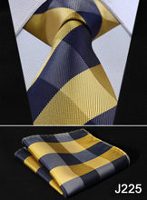 Load image into Gallery viewer, Plaid Silk Woven Jacquard Formal Neck Tie Set